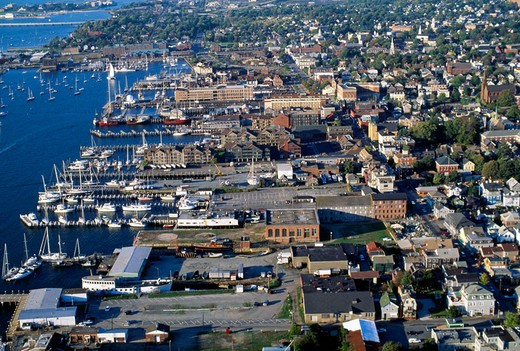 Stock Photo: 1566-648094 Air view of the town. Newport. Rhode Island. USA.