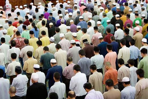 Friday prayer in mosque, Kuching. Sarawak, Borneo. Malaysia : Stock Photo