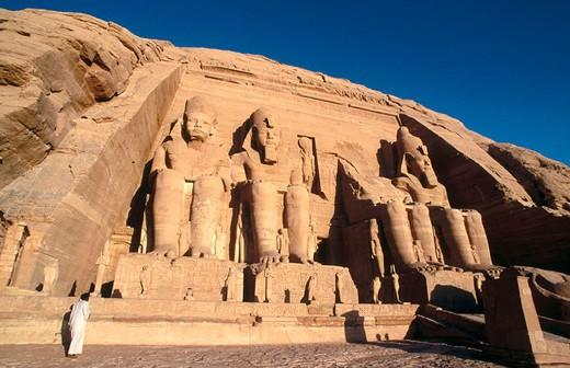 Stock Photo: 1566-648818 Great Temple of Ramses II, Abu Simbel. Egypt