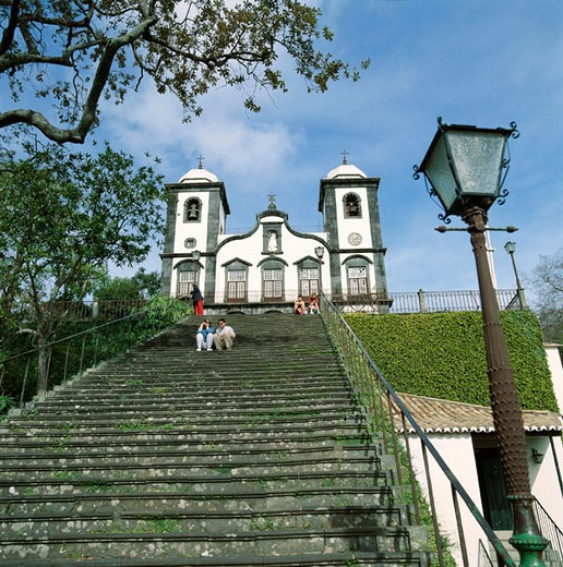 Nossa Senhora do Monte church. Funchal. Madeira. Portugal. : Stock Photo