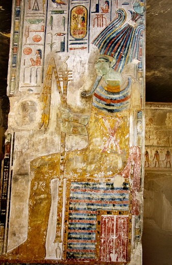 Stock Photo: 1566-650694 Mural paintings in the Tomb of Seti I. Valley of the Kings, Luxor West Bank. Egypt