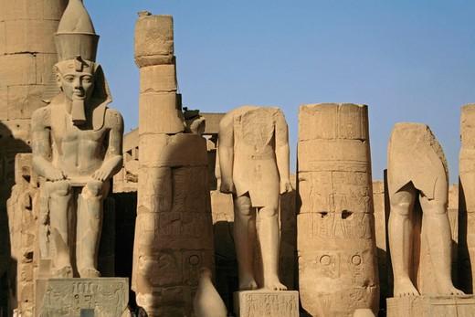 Luxor temple: Ramses II. Egypt. : Stock Photo