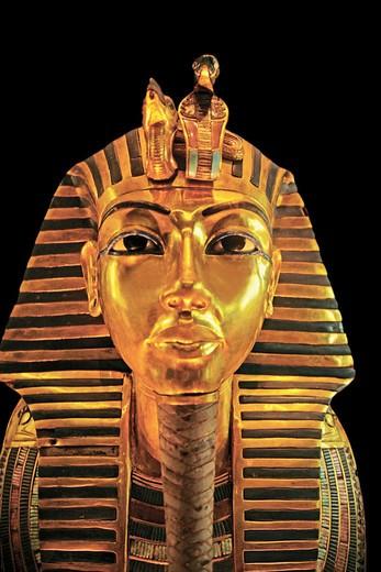 Egyptian Museum: Tutankhamon masque. El Cairo, Egypt. : Stock Photo