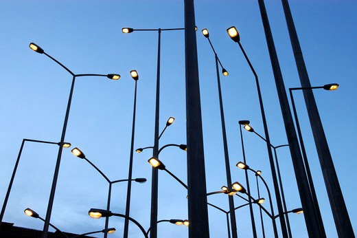 Stock Photo: 1566-651111 Public lighting. Bilbao. Spain