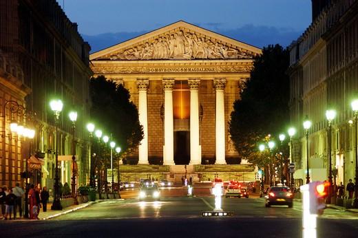 Stock Photo: 1566-651114 Rue Royale. The Madeleine. Paris. France