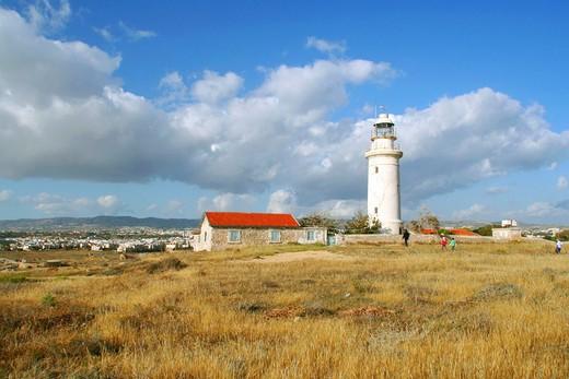 Lighthouse. Paphos. Cyprus. : Stock Photo