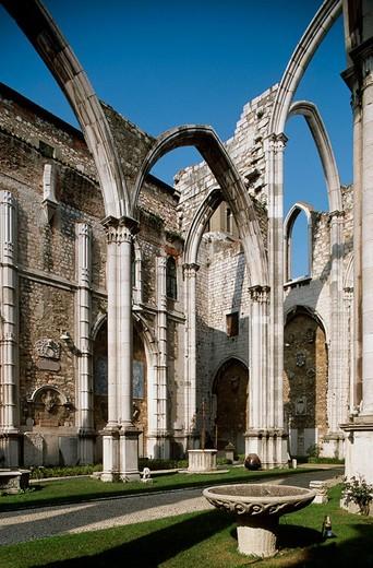 Church do Carmo ruins, Lisbon. Portugal : Stock Photo