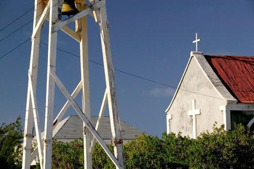 Turks & Caicos, Salt Cay Island, Balfour Town: Historic Former World´s Greatest Producer of Salt: St. John´s Anglican Church : Stock Photo