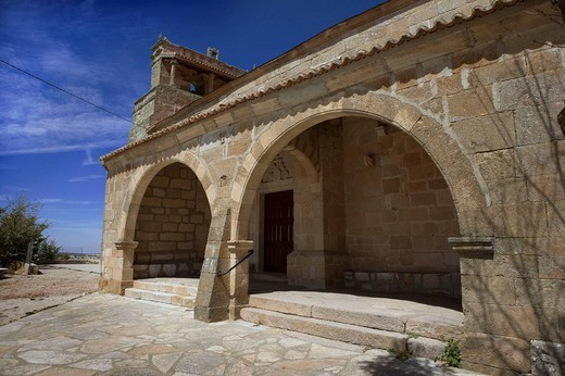 Church, Peñausende. Zamora province, Castilla-Leon, Spain : Stock Photo