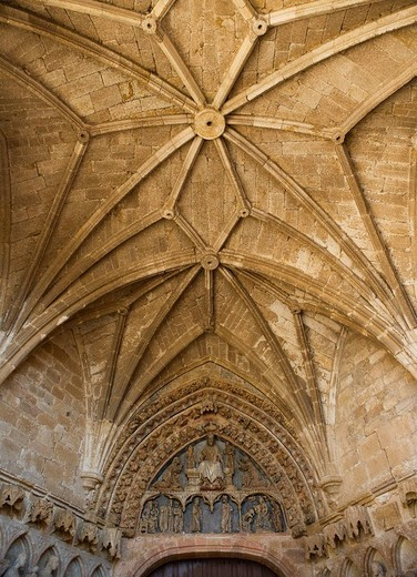 Gothic vaults, La Hiniesta. Zamora province, Castilla-Leon, Spain : Stock Photo