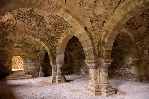 Stock Photo: 1566-672546 Monastery of Santa Maria de Moreruela, ruins of Cistercian abbey near Granja de Moreruela. Zamora province, Castilla-Leon, Spain