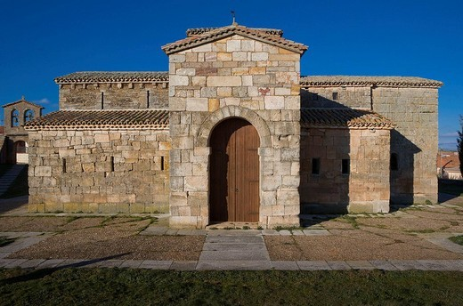 Stock Photo: 1566-672550 Pre-Romanesque church of San Pedro de la Nave. Zamora province, Castilla-Leon, Spain