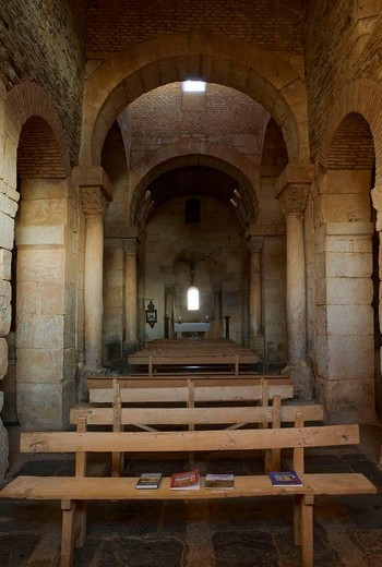 Pre-Romanesque church of San Pedro de la Nave. Zamora province, Castilla-Leon, Spain : Stock Photo