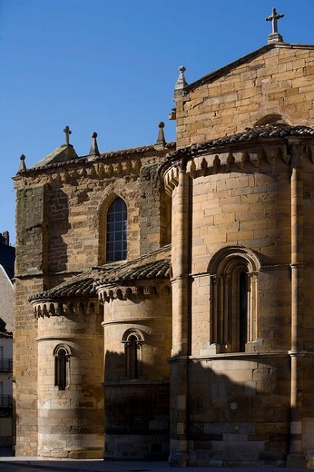Church of Santa Maria de Azogue, Benavente. Zamora province, Castilla-Leon, Spain : Stock Photo