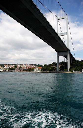 Fatih Sultan Mehmet Bridge, Bosphorus, Turkey, Istanbul : Stock Photo