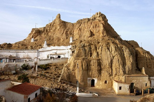 Stock Photo: 1566-673188 Troglodyte houses. Guadix. Granada. Spain.