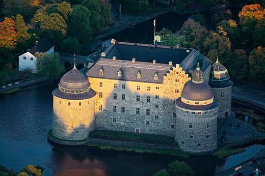 Örebro castle, aerial view. Örebro, Närke, Sweden : Stock Photo