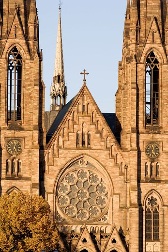 Saint Paul´s Church, Strasbourg. Alsace, France : Stock Photo