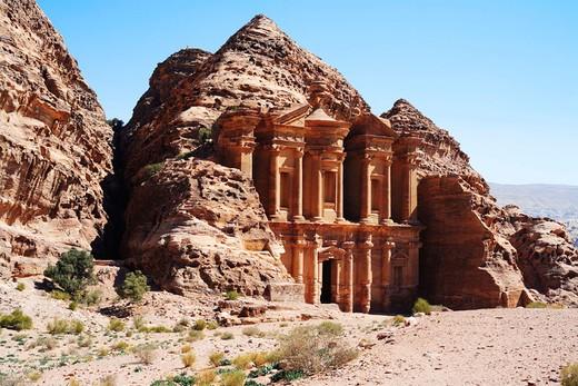 Ad-Dayr (´The Monastery´) tomb, Petra. Jordan : Stock Photo
