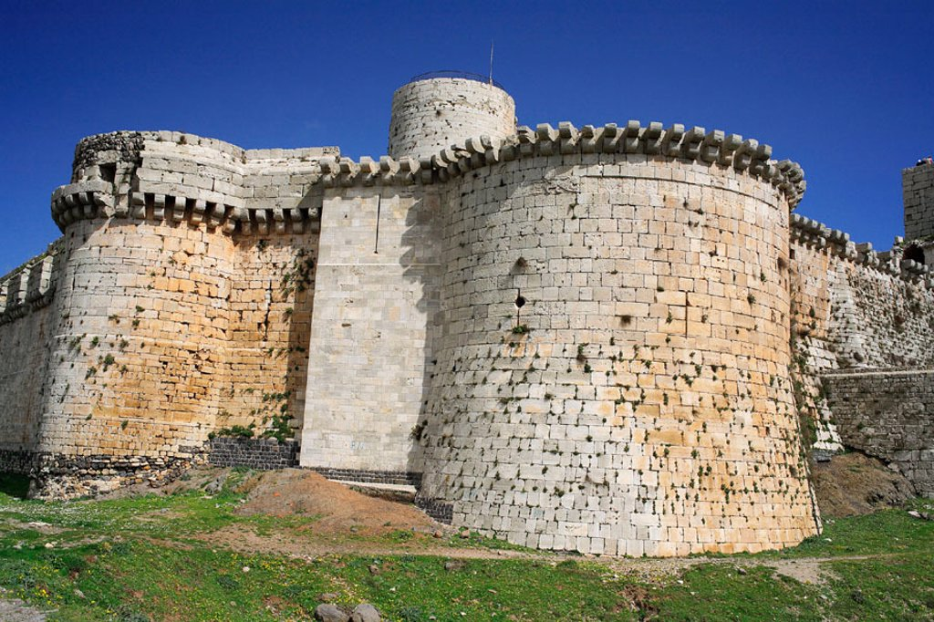 Stock Photo: 1566-674420 Knights fortress (Crac des chevaliers), Syria