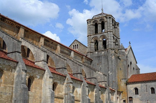 Church Sainte-Marie-Madeleine, Vézelay, Burgundy, France : Stock Photo