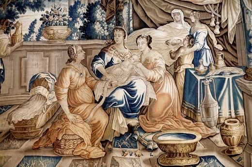 Stock Photo: 1566-674517 Medieval tapestry, Arles, Provence, France