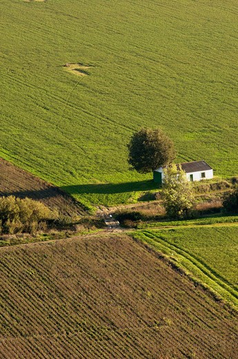 Country landscape near Almodovar del Rio. Cordoba province, Andalusia, Spain : Stock Photo