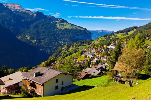 Stock Photo: 1566-675691 Wengen, Swiss Alps, Canton Bern, Switzerland
