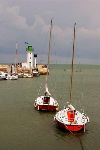 Stock Photo: 1566-676049 Lighthouse. La Flotte. Ile de Ré. Poitou-Charentes. Charente-Maritime. France.