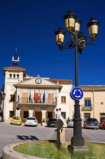 Ayuntamiento en Valdilechas. Madrid. España. : Stock Photo