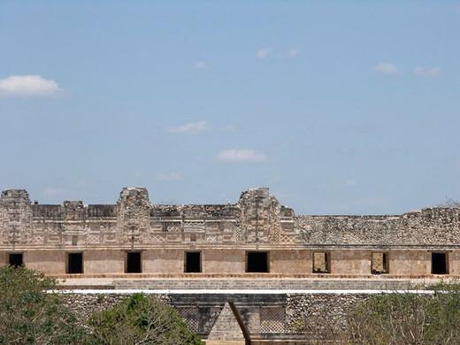 Nunnery Quadrangle of Uxmal archeological site. Yucatan, Mexico. : Stock Photo