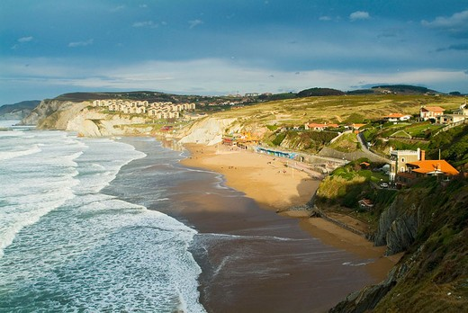 Stock Photo: 1566-677614 Beach in Sopelana. Biscay. Euskadi. Spain