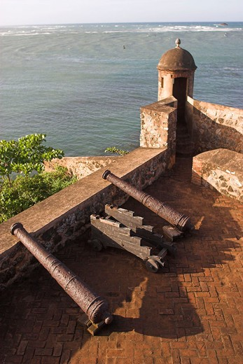 Fortaleza San Felipe colonial fort, Puerto Plata, Dominican Republic : Stock Photo