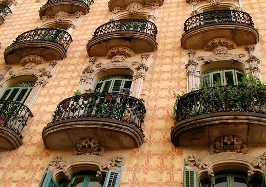 Stock Photo: 1566-679573 Ramos houses, next to Plaza Lesseps, Barcelona