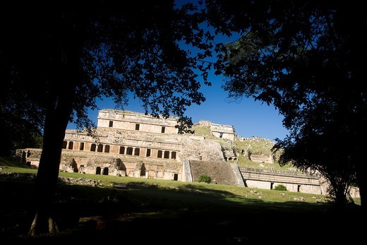 Stock Photo: 1566-680622 Archaeological site Sayil, Puuc Route, Yucatan, Mexico