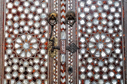 Turkey, Istanbul, Topkapi, Palace, Door detail of the Harem, : Stock Photo