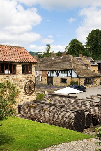 Mouseman Visitor Centre Kilburn North Yorkshire England : Stock Photo