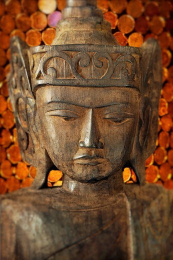 Stock Photo: 1566-682950 Wooden Buddha carving