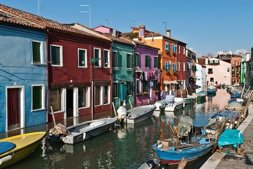 Burano island, Veneto, Italy, Europe : Stock Photo