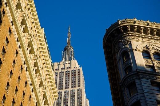 The Empire State Building skyline Manhattan New York City USA : Stock Photo