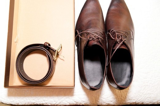 Stock Photo: 1566-684621 Shoes and belt