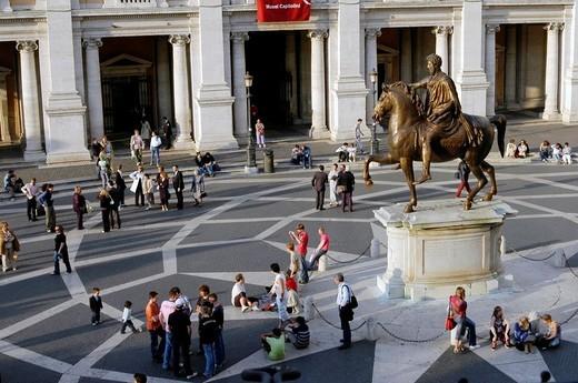Stock Photo: 1566-684790 Piazza del Campidoglio Rome Italy