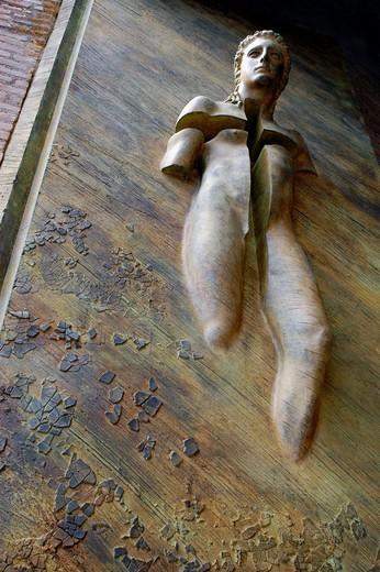 Stock Photo: 1566-684800 Le porte degli angeli Igor Mitoraj Basilica di Santa Maria degli Angeli e dei Martiri Piazza della Repubblica Rome Italy