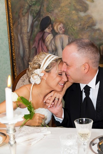 Stock Photo: 1566-684884 Bride and groom in love