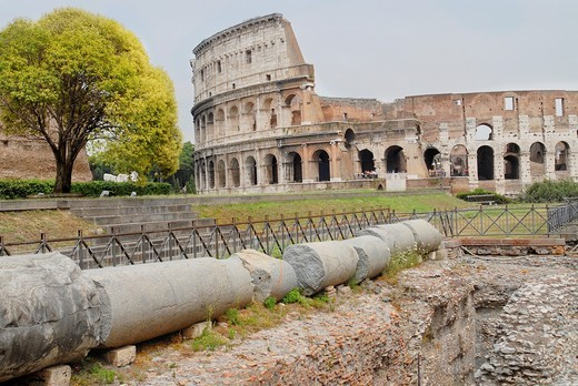 The Roman Coliseum Rome Italy : Stock Photo