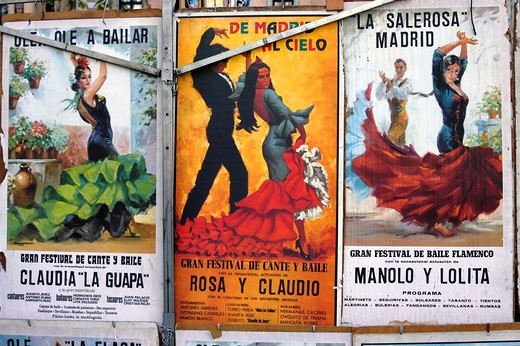 Classical Bull fighting posters Madrid Spain : Stock Photo
