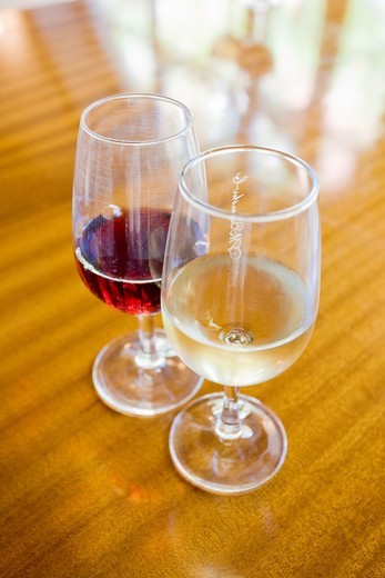 wineglasses of Porto wine : Stock Photo