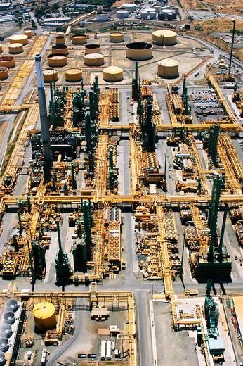 Oil refinery in North Bay near San Francisco. California, USA : Stock Photo