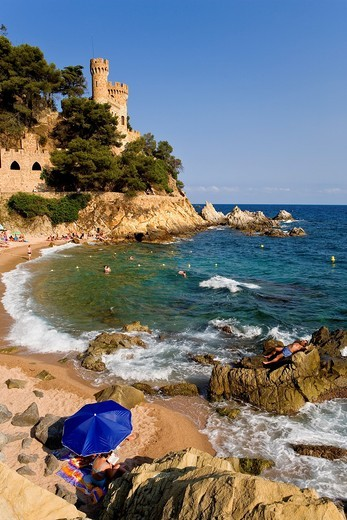 Lloret de Mar  Sa Caleta  Costa Brava  Girona province  Catalonia  Spain : Stock Photo