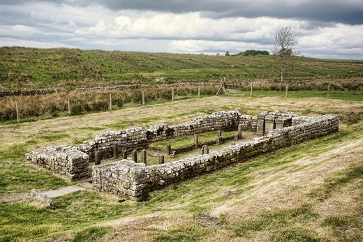 Temple of Mithras, Brocolitia, Hadrian´s Wall, Northumberland, England : Stock Photo